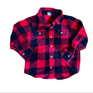 Old Navy plaid button up shirt